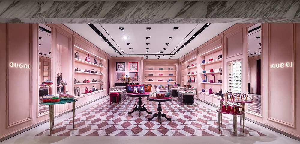 6245696cb45 Gucci Opens New Store At Galeries Lafayette